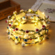 Led Flashing crown led flower headband girls hair accessories for festival