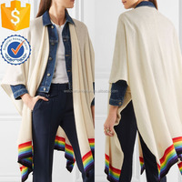 Cashmere Ivory Striped Cozy Wrap For Ladies Manufacture Wholesale Fashion Women Apparel (TS0222S)