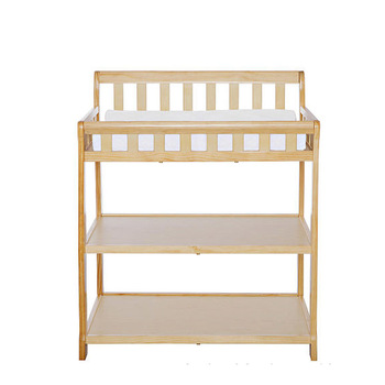 Natural New Zeland Pine Wood Safty Baby Change Table Designs