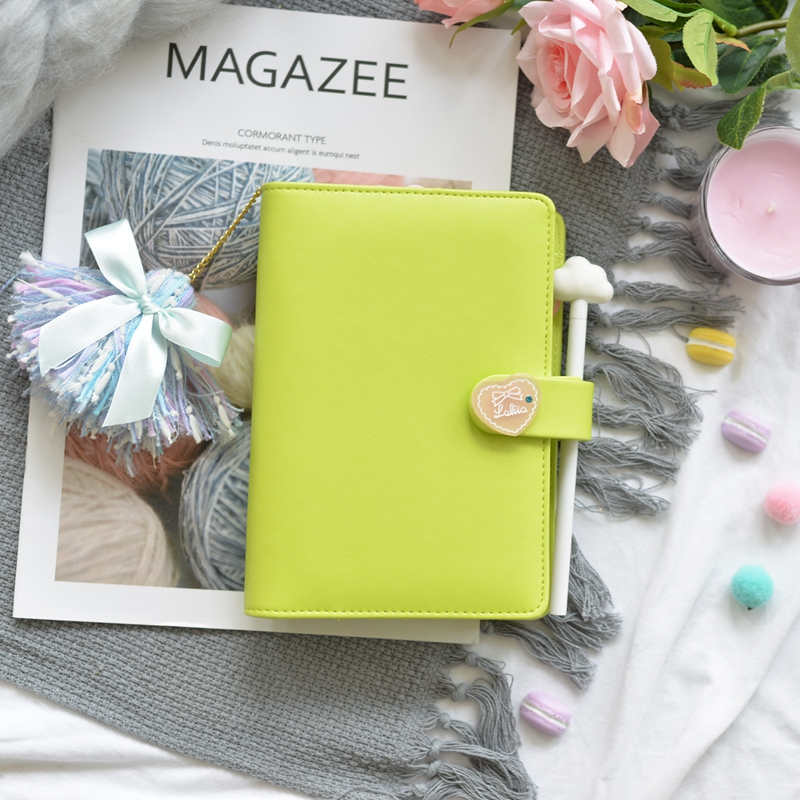 a6 organizer planner handmade paper diaries journals and notebooks weekly printing cover pu LEATHER material