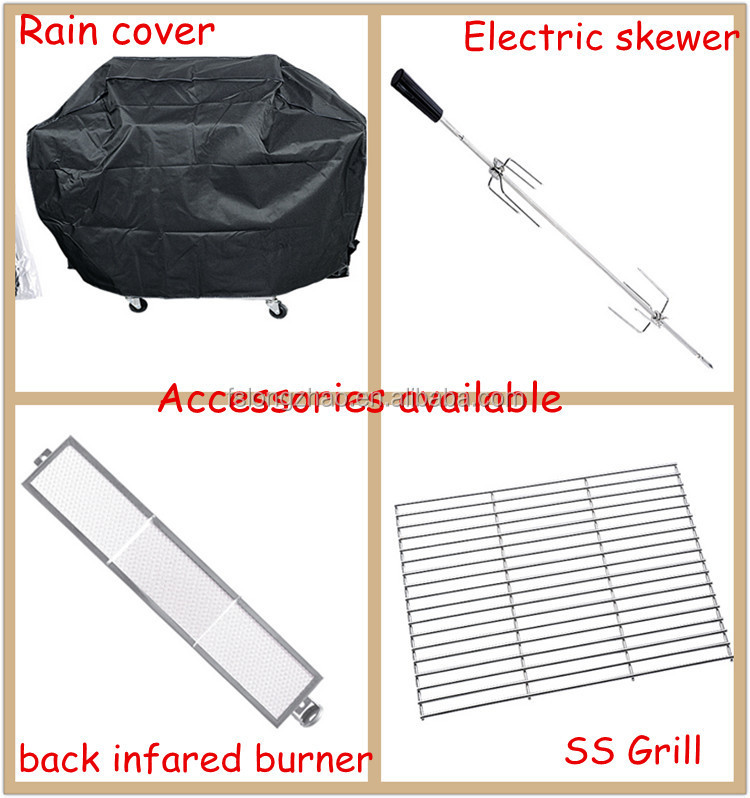 Outdoor 3+1 Burners Gas Grill Barbecue Grill