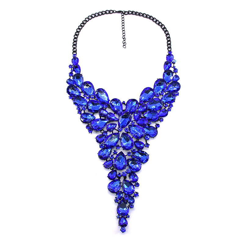 accessories for women blue sapphire necklace geometric jewelry