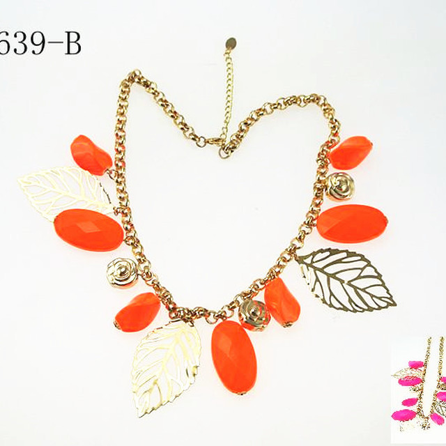 Stylish Multicolor Beads Plastic Pendant Jewelry Lovely Candy Color Costume : stylish costume jewelry  - Germanpascual.Com