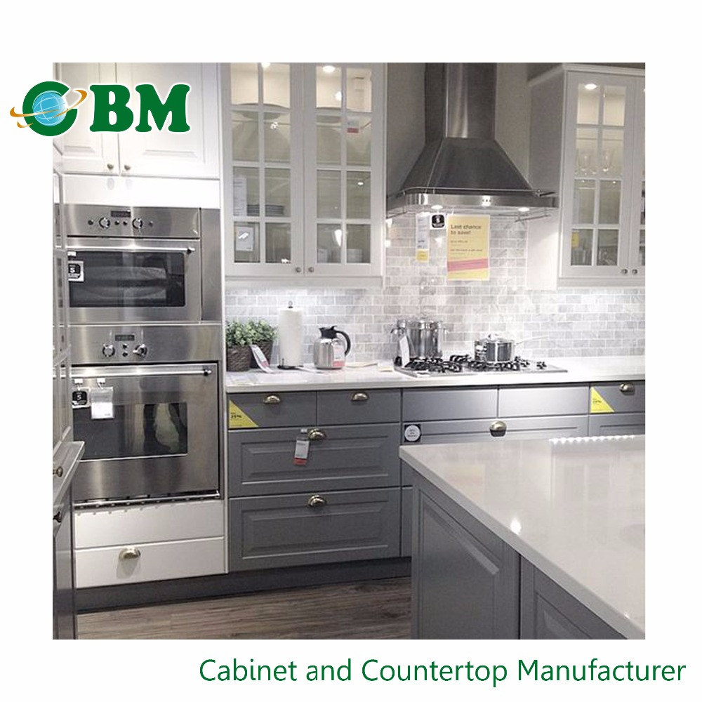 Buy Discount Kitchen Cabinets: Grey Shaker Wholesale Kitchen Cabinet China