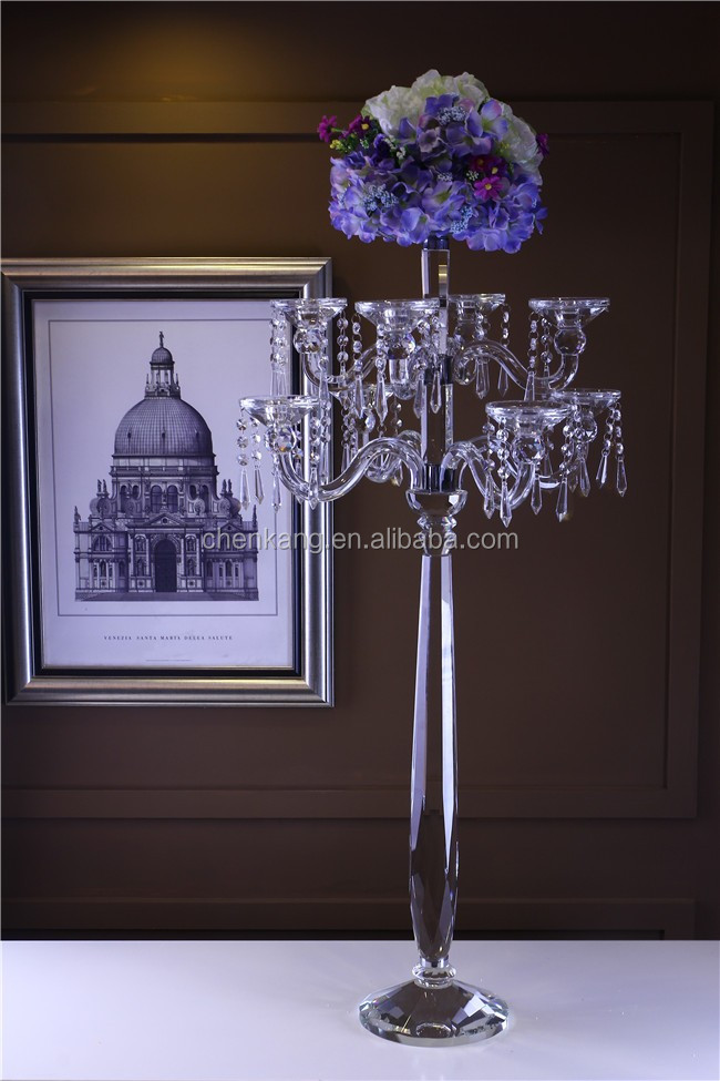 Wholesale wedding centerpieces tall crystal candelabra