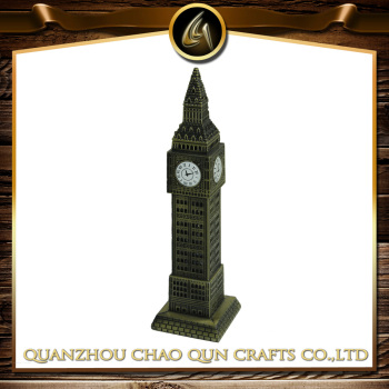 metal London Big Ben model building statue