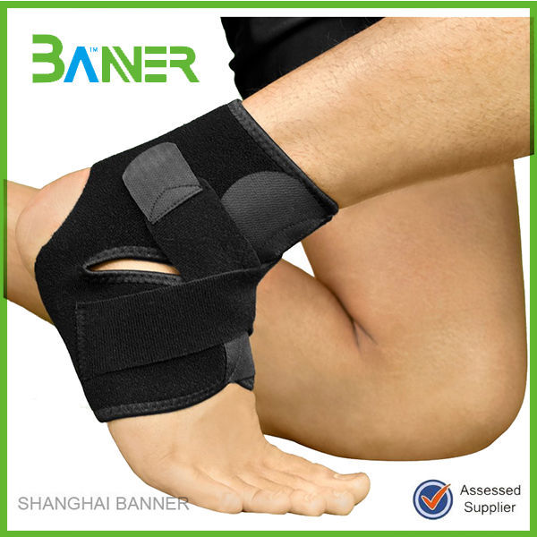Durable neoprene sports double elastic orthopedic ankle support