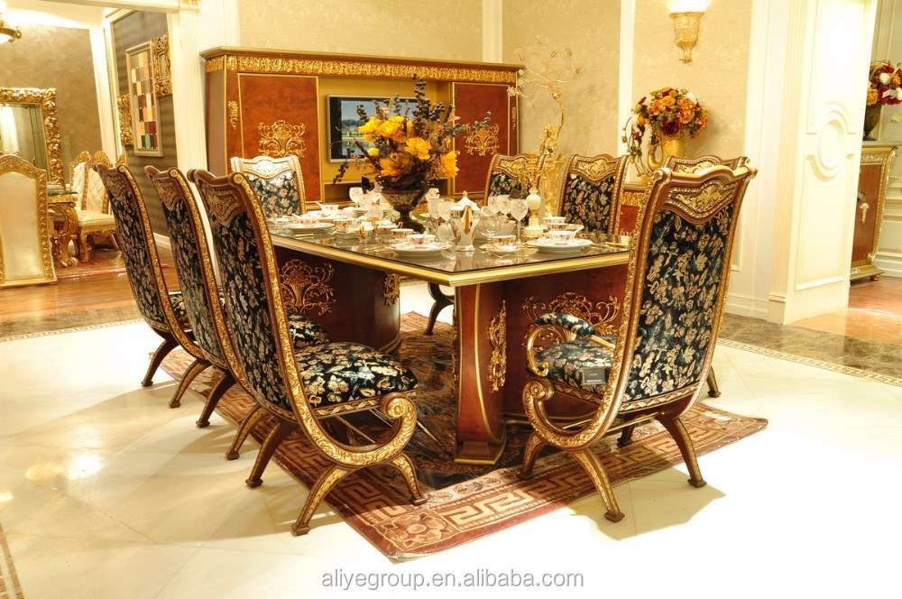 Aas46500 Royal Design Italian Style Dining Table Set