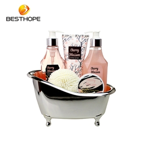 Spa refreshing shower gel best selling bath gift set with body scrub