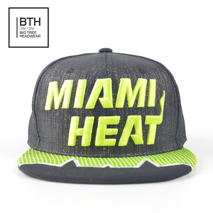 bfeeb9a84ef New Design Custom MIAMI Logo Snapback caps 3D Embroidered Baseball Caps  Flat Brim