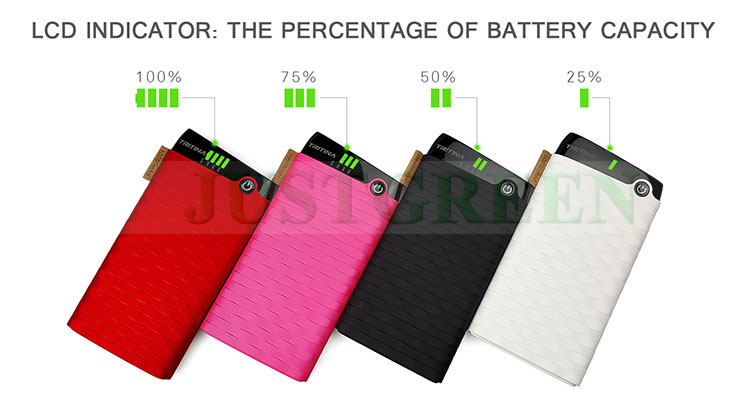Justgreen power bank for laptop Two USB Output best power bank 10000mah battery backup power banks