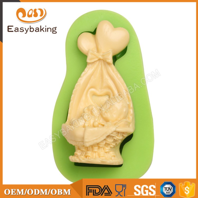 ES-1016 Sleeping Baby and Lovely Baby Crib Silicone Mold