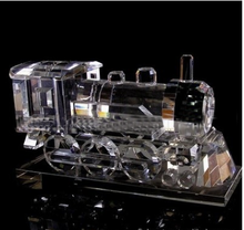 New Year arrival glass train model crystal steam Locomotive model for sale