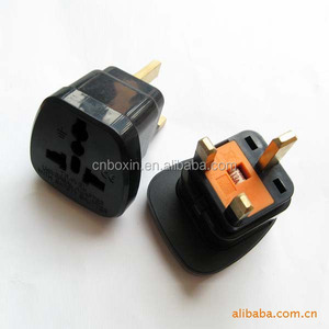 CE Universal Travel Adapter AU US EU to UK Adapter Converter 3 Pin AC Power Plug Adapter Connector