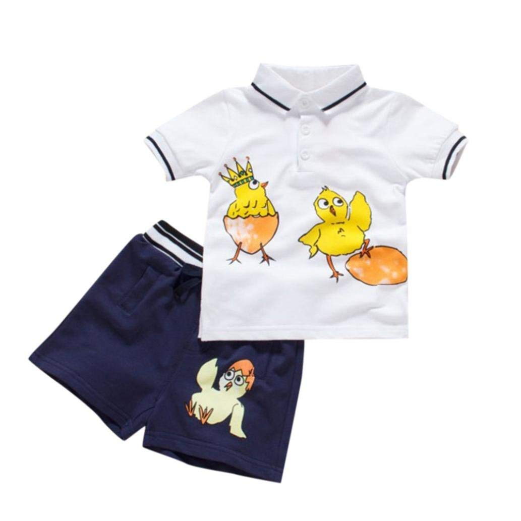 07807d241 Buy Dinlong 2Pcs Baby Boy Short Sleeve Gentlemen T Shirt Chick ...