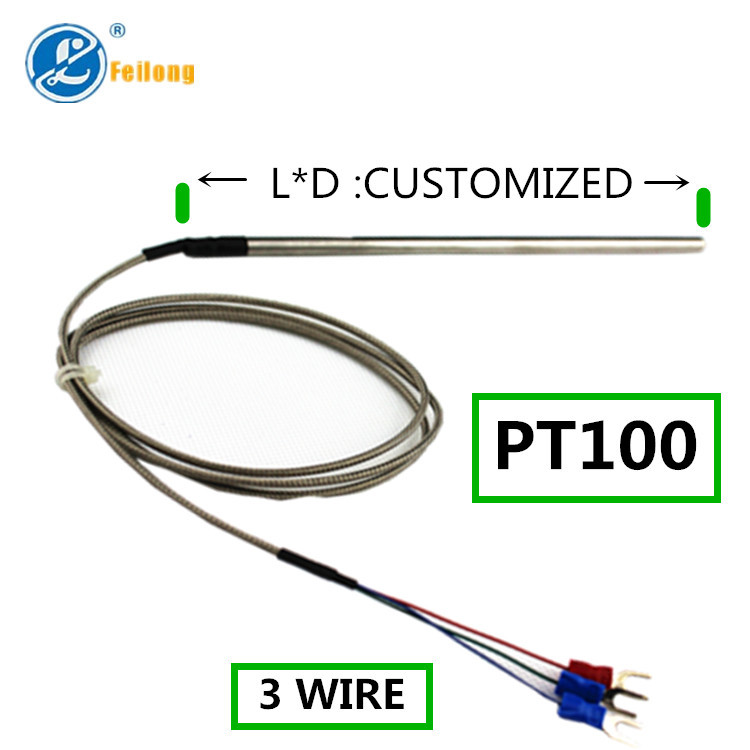 3 Wire Rtd Pt100 Thermal Resistance With Stainless Steel Tube - Buy ...