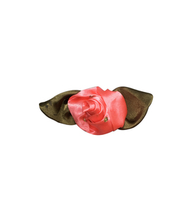 rose hand sewing needle with rose make satin ribbon flowers rose buds