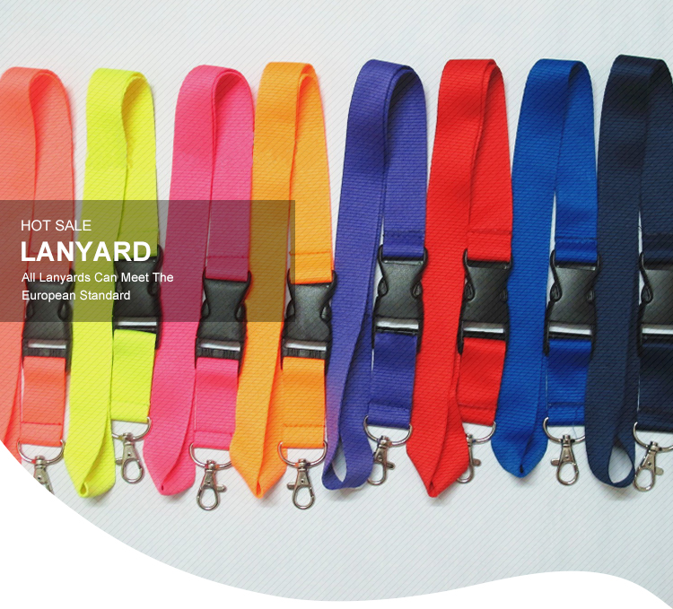 Eco-friendly Premium Quality Detachable Buckle Release Two Layer Printed Lanyards