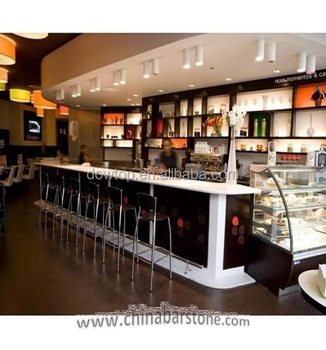 Wonderful Classic L Shaped Solid Surface Bar Table Top Restaurant Wooden Bar Counter  Design Coffee Bar Counters
