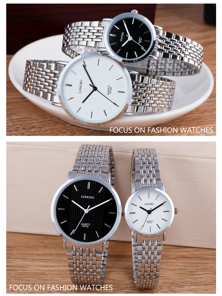 Simple atmosphere waterproof machinery, couples watches, exquisite steel belt business leisure men watches