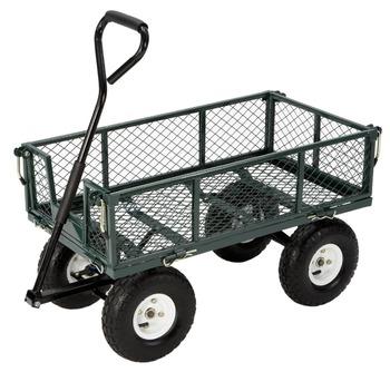 TC1840 Robot Welding Heavy Duty Mesh Structure Garden Cart For Sale
