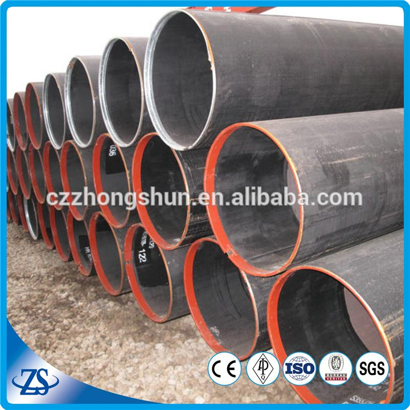 ASTM A53 Mild steel SCH20 LSAW Carbon Steel welded pipe with BE and caps made in China