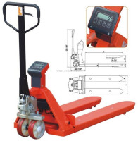 China supplier 2Ton Manual Hand Weigh scale Manual Pallet Truck ce certification