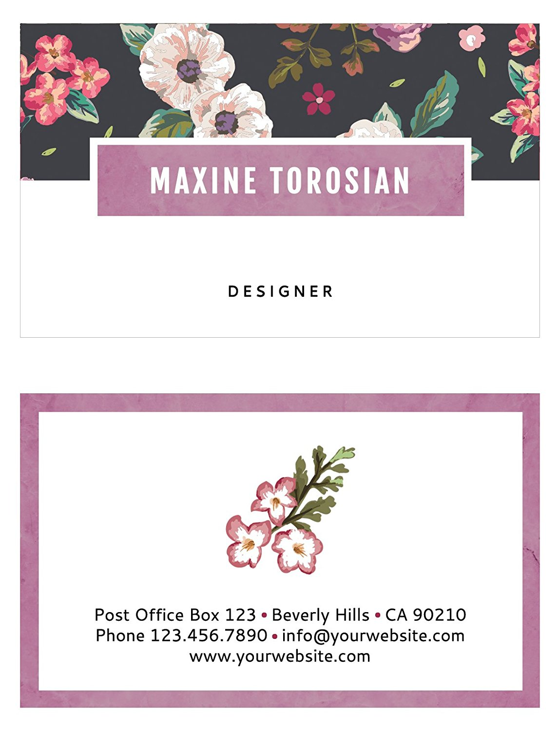 Cheap color business cards online find color business cards online get quotations blossom custom business cards by luxx design personalized customized for women reheart Gallery