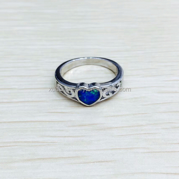 Wholesale Funny Diamond Blue Opal Engagement Silver Rings Buy