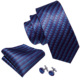 Private Labels Navy Red Stripped Silk Pleated Ties