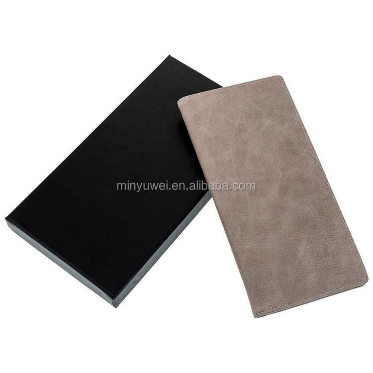 personalized RFID Leather passport holder for women