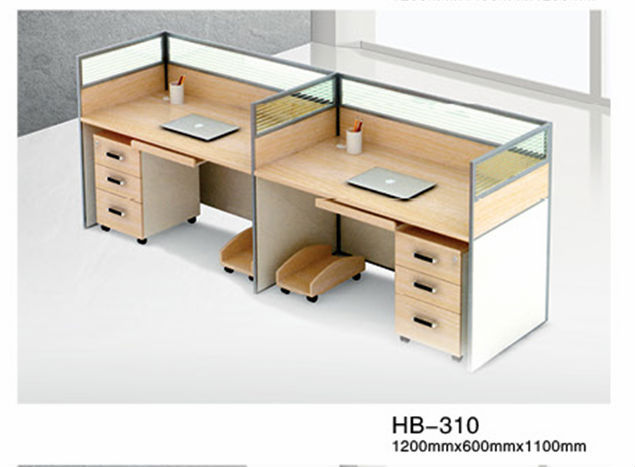 Modern office design two person office workstation