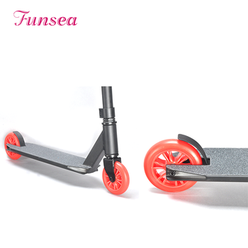 Guangzhou funlake brake 110mm wheel electric extreme sport freestyle kick adult stunt scooter for kid, teenager, man, woman