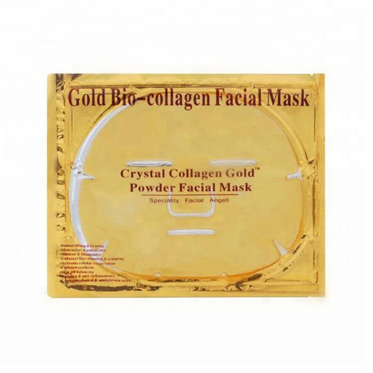 24 k Or Masque Facial De Soins De La Peau Bio-collagène Cristal collagène Masque Facial