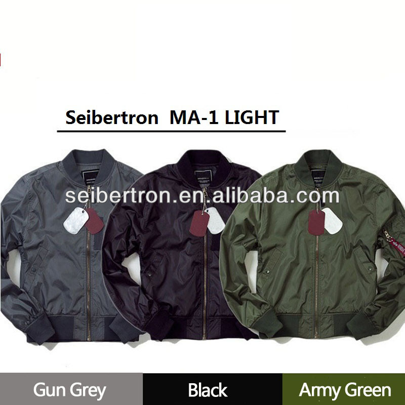 Seibertron MA-1 Light Jacket Light-Weight Windproof Jacket Water Resistant Jacket