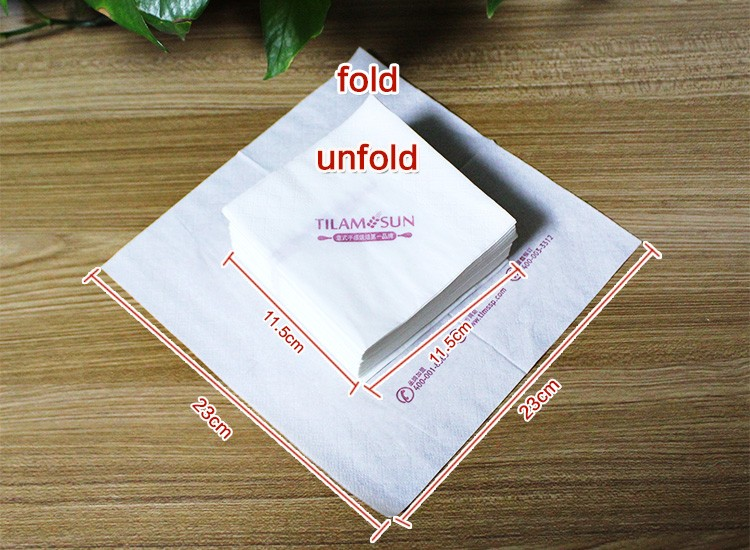 Eco-friendly private label good personal custom logo tissue paper serviette