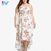 Dongguan Yihao Plus size women clothing printing latest dress designs summer plus size dress clothing manufacturers