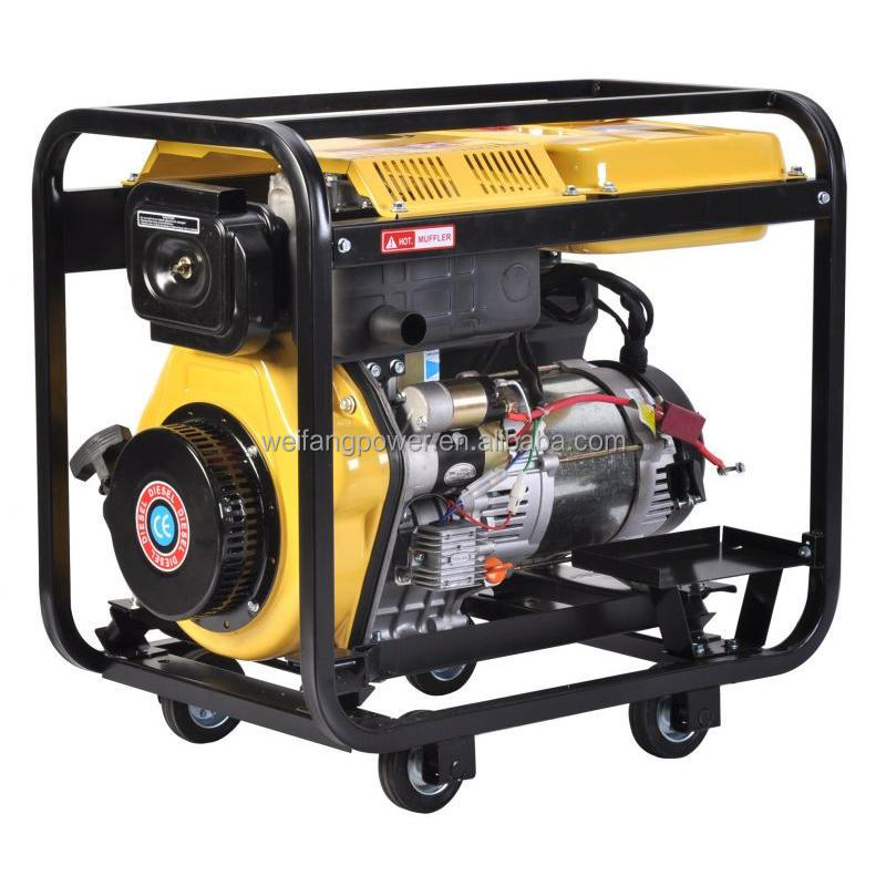 Small power single phase 5 kw diesel generator