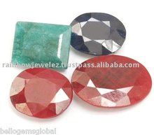 137. 45 Cts. RUBY, BLUE SAPPHIRE & EMERALD GEMSTONE LOT