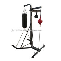 Multi station boxing stand with punching bag and speed ball