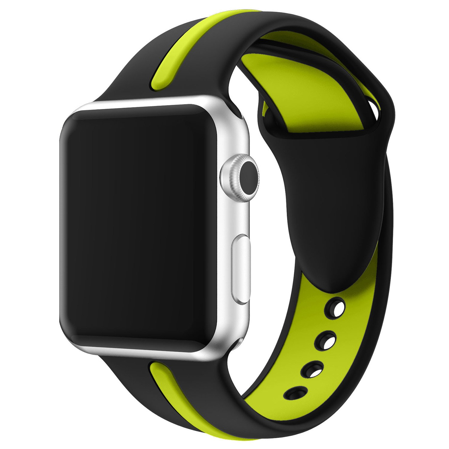 Silicone Apple Watch Band 38mm 42mm, ZXK CO Soft Rubber Sport Replacement Wrist Strap for Apple Watch Series 3 Series 2 Series 1 Nike+ Sport Edition, 70 Variants