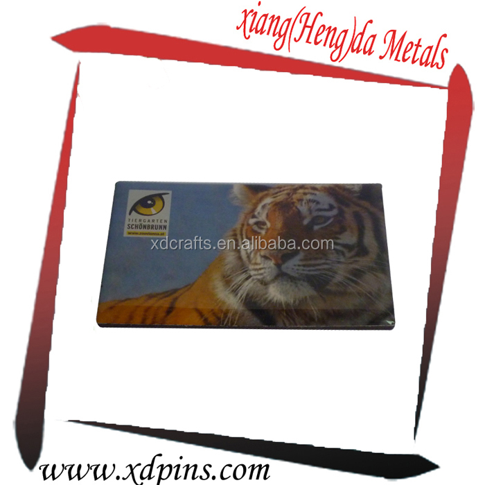 different coutries souvenir tourist gifts custom tiger logo fridge magnet printing