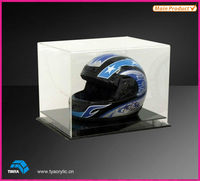 High Quality Plastic Clear Acrylic Helmet Display Case