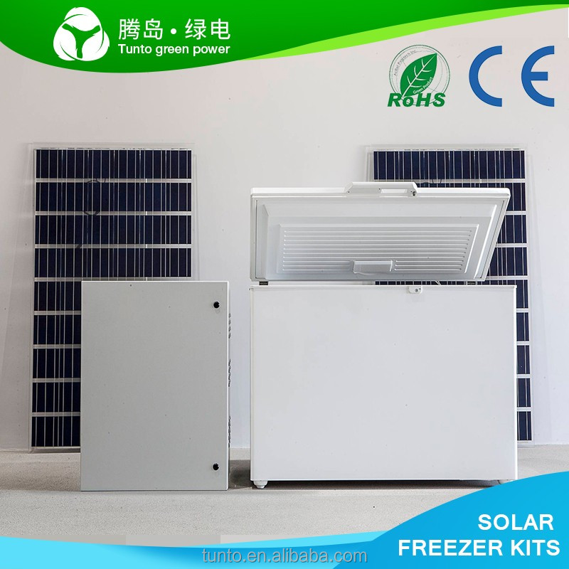 Best sale solar freezer refrigerator deep chest ice cream blast vertical display mini car dc door
