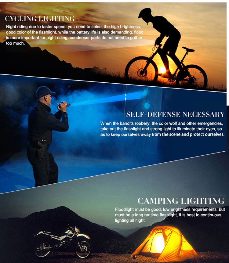Flashlight Torch for Camping Outdoor Climbing Hiking Emergency Hand Cranking Solar Dynamo Powered Rechargeable LED Flashlight