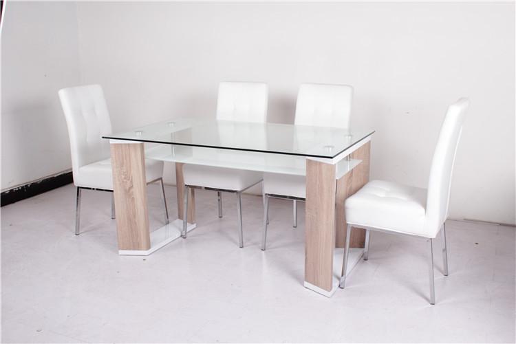 Pas Cher Ossature De Bois Moderne Plexiglas Salle A Manger De Table