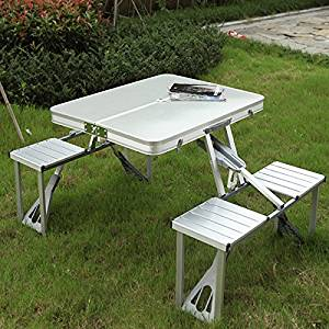 Outdoor Camping Hiking Folding Table Picnic Fold-up Foldable Tables Chair