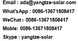 Yangtze 350w 360w 380w 400w 72 cells 36v high efficiency solar panels