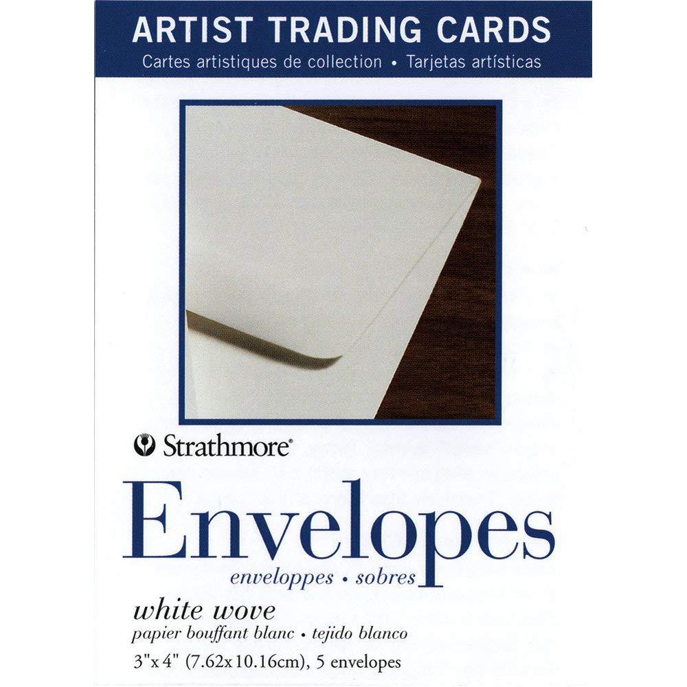 Strathmore 105-909 White Wove Envelopes for Artist Trading Cards, Natural White, 5