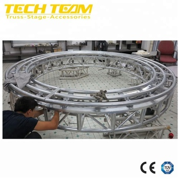 Aluminum circular rotating lighting truss for hanging lights